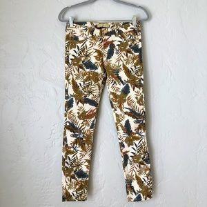 ZARA Denim Womens Floral Skinny Jeans Size 04